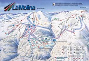 Mapa estaci�n esqu� La Molina
