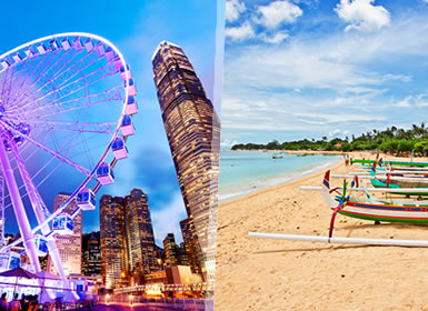 China e Indonesia: Hong Kong y Bali