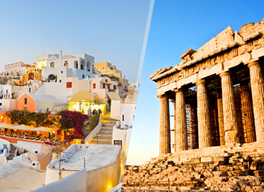 Grecia: Atenas y Santorini en avión
