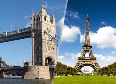 Combinado: París y Londres en avión