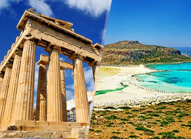 Grecia: Atenas y Creta en avión