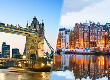 Inglaterra y Noroeste de Europa: Londres y Ámsterdam en avión