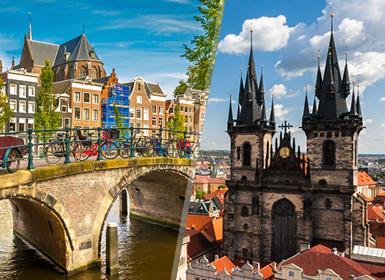 Noroeste y Centro de Europa: Praga y Ámsterdam en avión