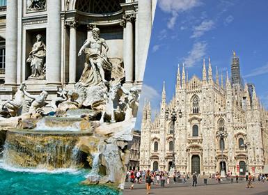 Italia: Roma y Milán en avión