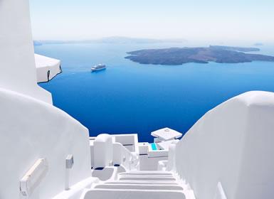 Grecia: Atenas, Crucero de 4 días y Santorini