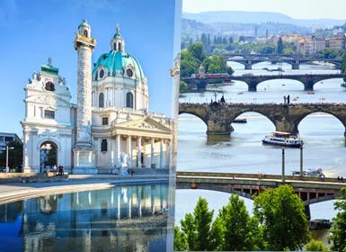 Centroeuropa: Viena, Budapest y Praga en tren