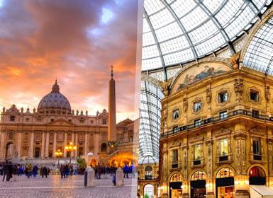 Italia: Roma, Florencia, Venecia y Milán en tren