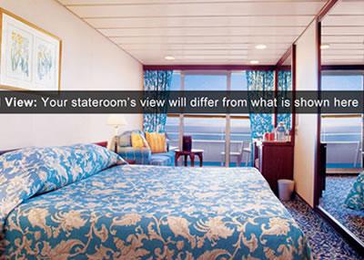 Cubierta deck 6 del barco pacific princess princess for Exterior vista obstruida