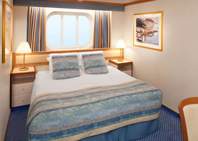 Cubierta emerald 8 del barco diamond princess princess for Exterior vista obstruida