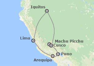 Perú: Perú con Arequipa, Titicaca y Amazonas