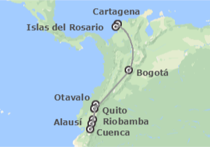 Ecuador y Colombia: Quito, Riobamba, Cuenca, Bogotá y Cartagena de Indias