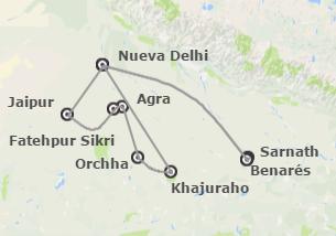 India: Norte Clásico con Khajuraho Media Pensión
