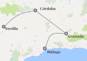 Andalucía: Granada, Córdoba y Sevilla