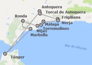 España y Marruecos: Costa malagueña, Tánger y Tetuán
