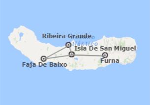 Portugal: Isla azoriana de San Miguel con Furnas
