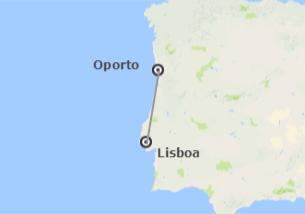 Portugal: Lisboa y Oporto en avión