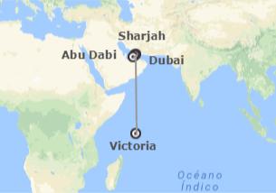 Emiratos e Islas del Índico: Dubái, Sharjah, Abu Dhabi y Seychelles