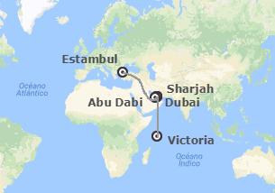 Turquía, Emiratos e Islas del Índico: Estambul, Emiratos Árabes y Seychelles
