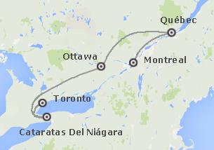 Canadá: Este Canadiense con noche en Niágara