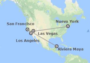 EEUU y México: Nueva York, Las Vegas, Los Ángeles, San Francisco y Riviera Maya