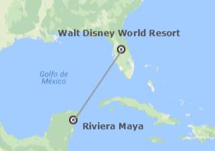 EEUU y México: Walt Disney World Orlando y Riviera Maya