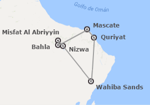 Omán: Muscat, Nizwa, Wahiba Sands y Ras al Jinz