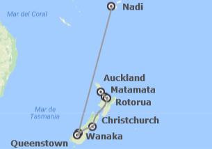 Nueva Zelanda y Fiji: Nueva Zelanda y Viti Levu