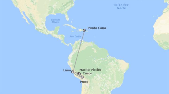 Recorre los parajes naturales de Perú, y disfruta de las playas del Caribe en República Dominicana.