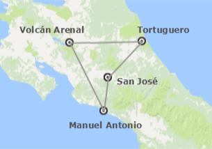 Costa Rica: Tortuguero, Arenal y Manuel Antonio