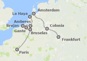Sur, Noroeste y Centro de Europa: París, Países Bajos y Rhin