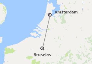 Noroeste de Europa: Bruselas y Ámsterdam en avión