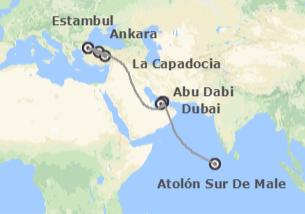 Turquía, Emiratos e Islas del Índico: Turquía, Emiratos y Maldivas