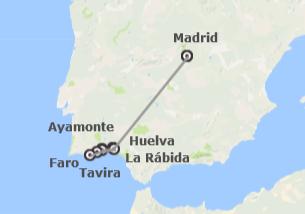España y Portugal: Huelva, Ruta Colombina y Algarve