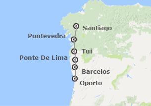 Portugal y Galicia: Camino de Santiago en bicicleta de Oporto a Santiago