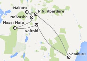 Kenia: Safari en Kenia con Samburu y Aberdare