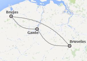 Bélgica: Bruselas, Brujas y Gante en tren