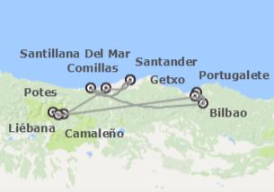 Norte de España: De Santander a Oviedo