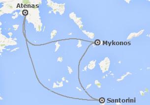 Grecia: Atenas, Mykonos y Santorini