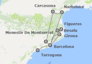Cataluña: Barcelona, Girona y Tarragona