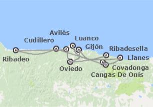 Asturias: De Ribadesella a Ribadeo