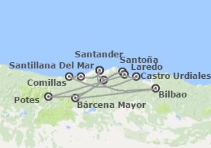 Norte de España: Cantabria con Bilbao