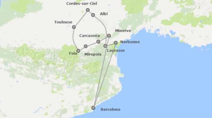 Combinado: Carcassone y Tolouse desde Barcelona