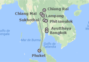 Tailandia: Ruta Norte y Phuket