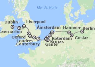 Islas Británicas, Noroeste y Centro de Europa: Dublín, Londres, Países Bajos y Berlín