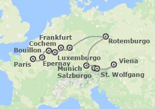 Sur y Centro de Europa: Francia, Bélgica, Alemania y Austria