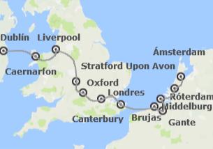 Islas Británicas y Países Bajos: Dublín, Londres y Países Bajos