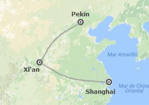 China: Beijing, Xian, Shanghai en avión