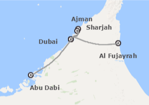 Emiratos Árabes: Dubái, Abu Dhabi, Sharjah y Fujairah