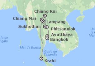 Tailandia: Ruta Norte y Krabi