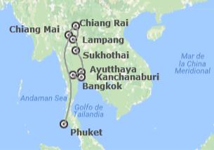 Tailandia: Del Río Kwai al Triángulo de Oro y Phuket